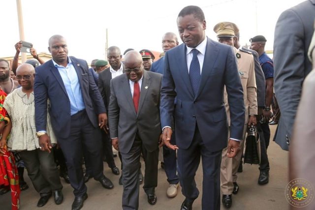 Nana Addo in Togo to hold talks on political crisis
