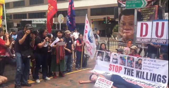 Duterte Sinalubong ng Protesta sa pagbisita sa Hongkong.