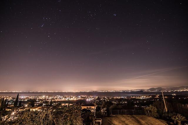 Foto Gardasee bei Nacht Garda