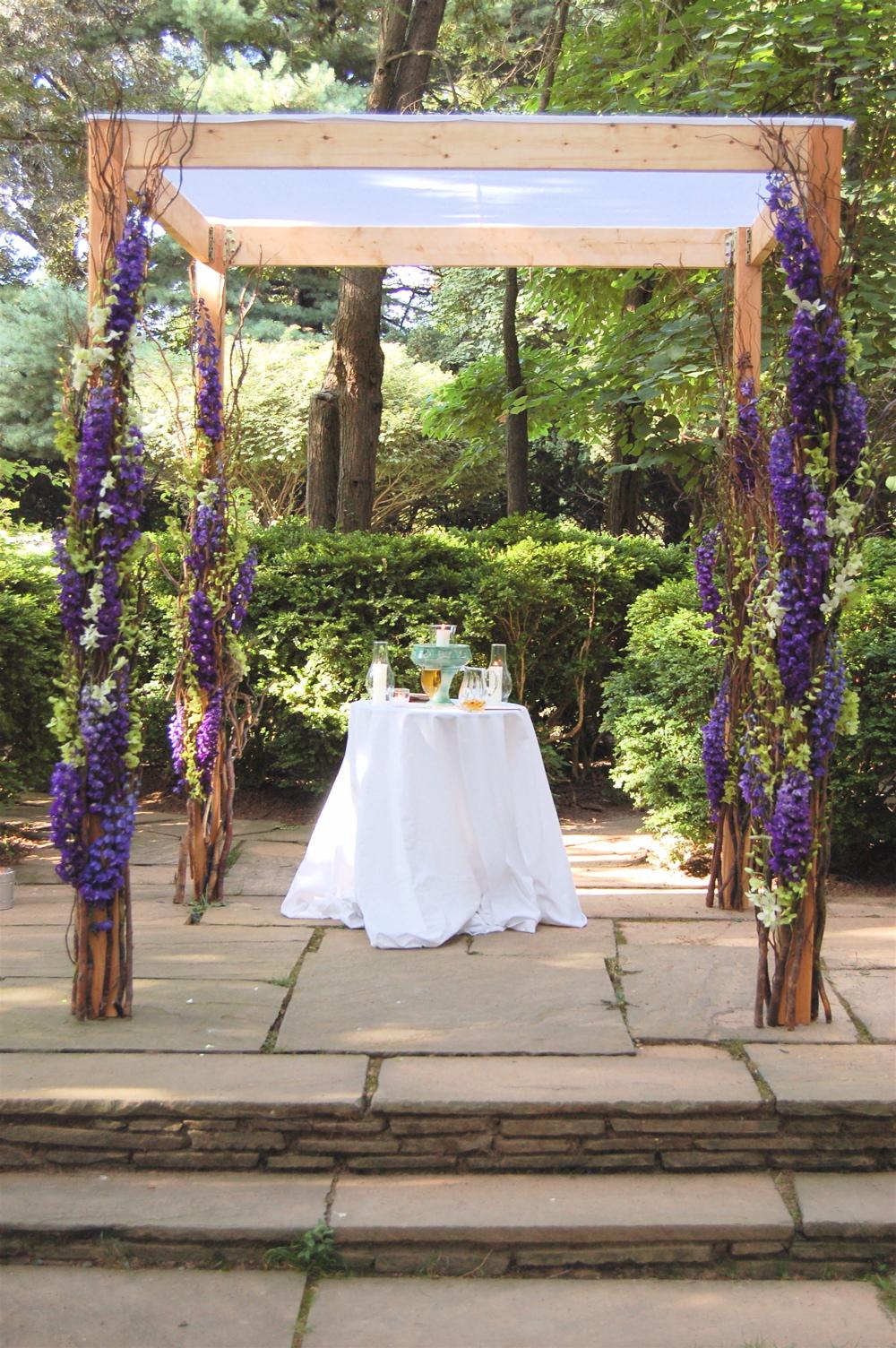 A Purple And Green Wedding Decor Inspiration