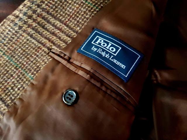 Ralph Lauren Glen Check Tweed jacket label view