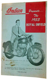 Cover of Indian brochure presenting the 1953 Royal Enfields.