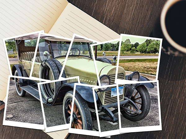 picture editing turn a photo into a collage of polaroids in photoshop