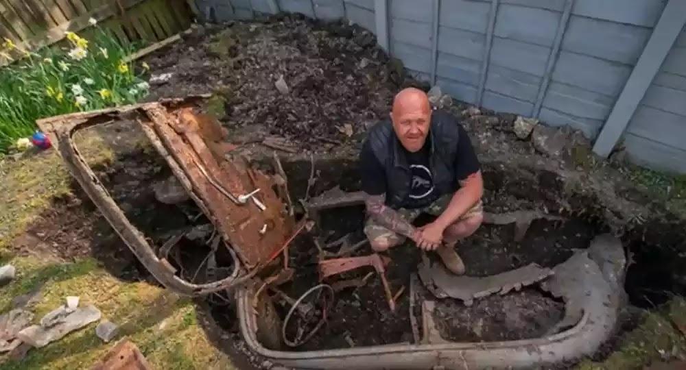 Έσκαψε τον κήπο του και βρήκε θαμμένο αμάξι εδώ και 70 χρόνια - Βίντεο