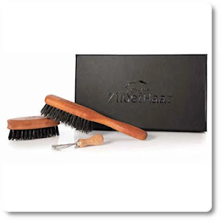 19 Zilberhaar Basic Beard Brush Kit (Soft Version) 2nd Cut Boar Bristles - HairBrushy