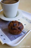 (Muffinki czekoladowo-bananowe
