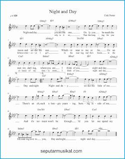 chord night and day lagu jazz standar