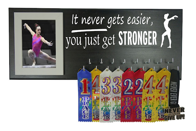 gymnastics gymnast medal ribbons award holder hanger display rack