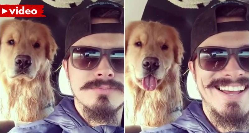 Ο σκύλος μιμείται το αφεντικό του! (βίντεο)