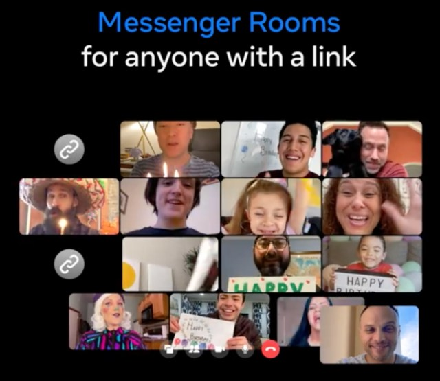 You can join Messenger Rooms with just a link