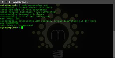 Tethering HTTP Injector Dari Smartphone Unroot Pada Linux Ubuntu