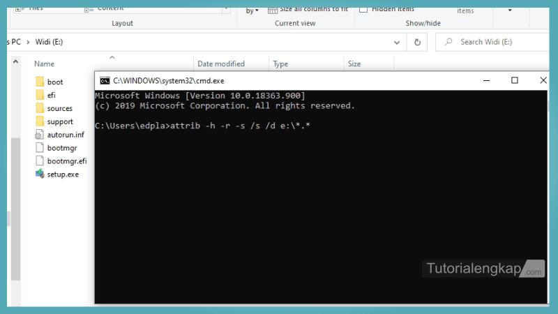 Tutorialengkap 3 cara menampilkan File dan Folder Tersembunyi pada Windows 7, windows 8, Windows 10 Melalui CMD