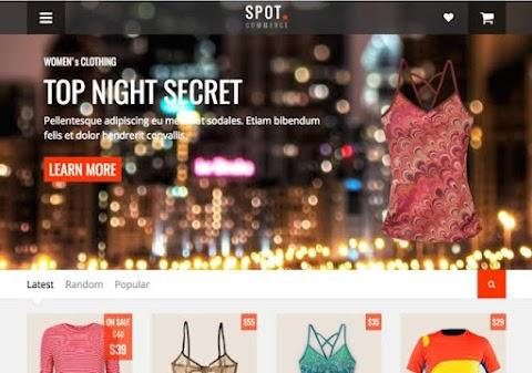 Spotcommerce Blogger Template Free Download | E commerce Blogger Theme Download