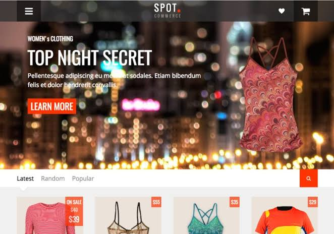 Spotcommerce Blogger Template Free Download | E commerce Blogger Theme Download