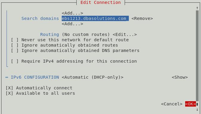 enable internet in OEL7 - dbasolutions in