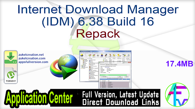Internet Download Manager (IDM) 6.38 Build 16 Repack