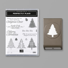 Nice People Stamp Stampin Up Canada Perfectly Plaid Christmas Card How To Create A Simple Snow Scene W Video