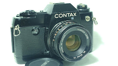 Contax 137 MD Quartz Body #280, Yashica ML 50mm 1:2