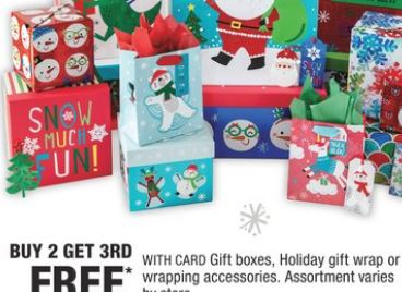 Gift Boxes, Holiday Gift Wrap Or Wrapping Accessories. Assortment