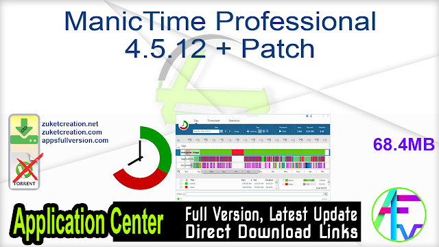 ManicTime Professional 4.5.12 + Patch