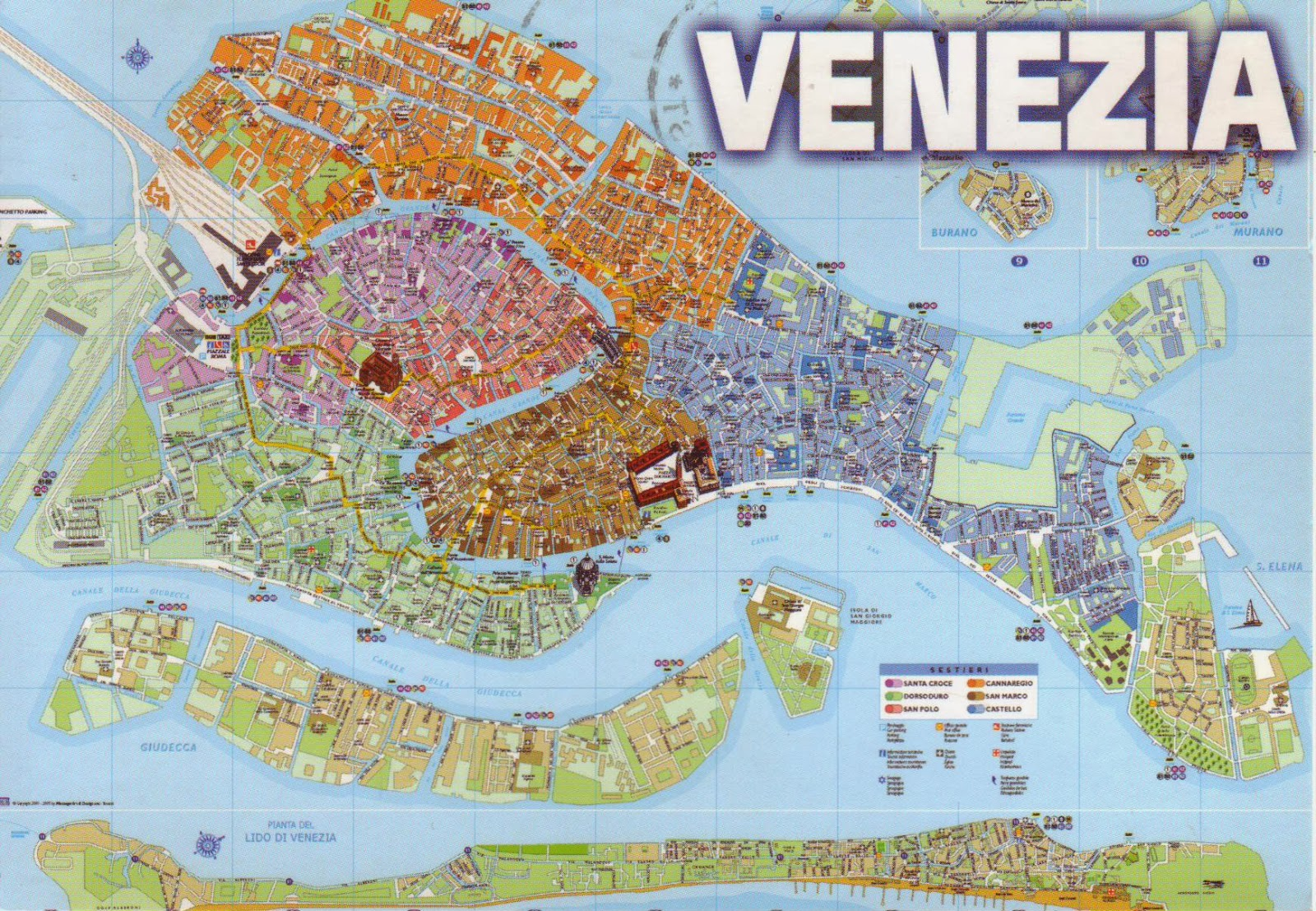 Map Of Italy Venice.The World In Postcards Sabine S Blog Venice Map Italy