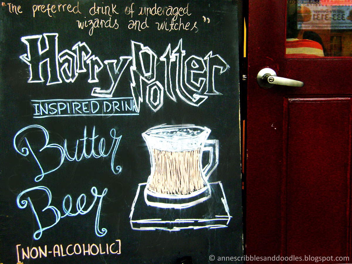 Nook Cafe, Maginhawa Street: Harry Potter Themed Cafe | Butterbeer