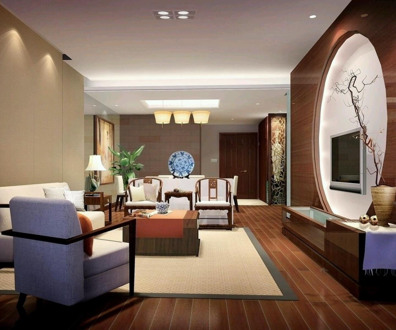 Luxury homes interior decoration living room designs ideas.   New home designs