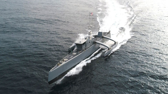 Image Attribute: Sea Hunter, an entirely new class of unmanned ocean-going vessels. It is developed under the aegis of Defense Advanced Research Projects Agency (DARPA)'s Anti-Submarine Warfare Continuous Trail Unmanned Vessel (ACTUV) program, in conjunction with the Office of Naval Research (ONR). / Source: U.S. Navy