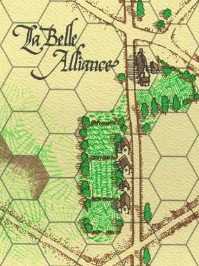 La Belle Alliance on the map for La Bataille de Mont Saint Jean by Clash of Arms