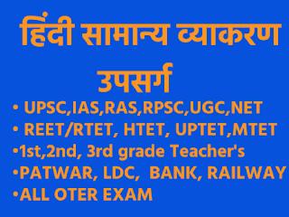 Upsarg in Hindi - उपसर्ग की परिभाषा, भेद और उदाहरण