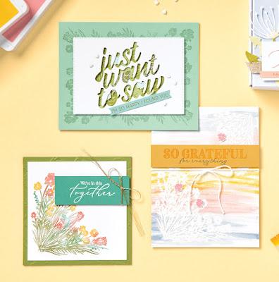 Stampin' Up! Sale-a-Bration Corner Bouquet Cards #stampinup #saleabration