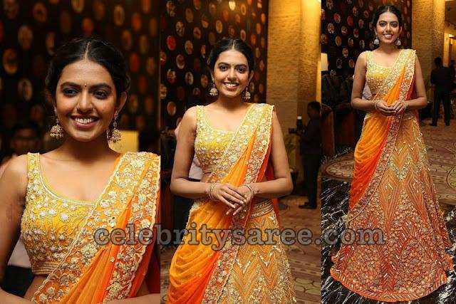 Shivani Rajashekar Designer Half Saree