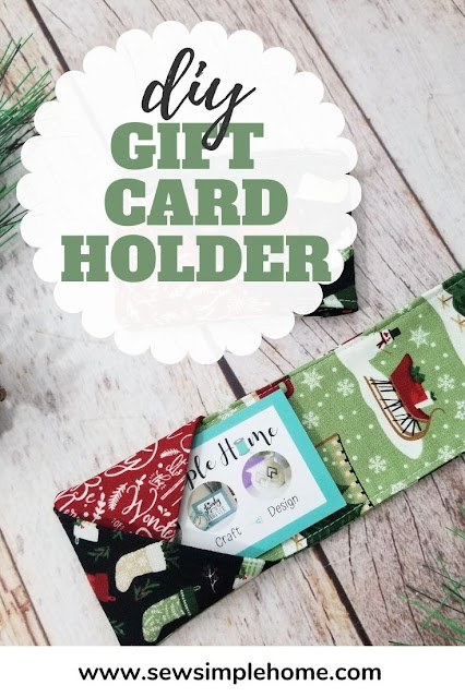 Give the gift of handmade with this simple DIY gift card holder made from fabric.