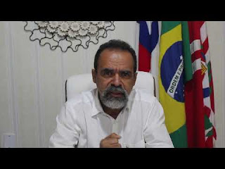 Prefeito de Utinga, Joyuson Vieira Santos anuncia o primeiro caso de coronavírus no Município