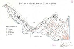 Mapa del Canal de la Infanta (1908)