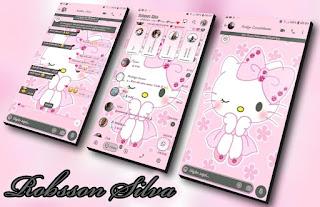 Hello Kitty Cute Theme For YOWhatsApp & Fouad WhatsApp By Robsson