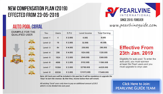 Pearlvine Auto pool Income plan - Coral Auto Pool Income Chart