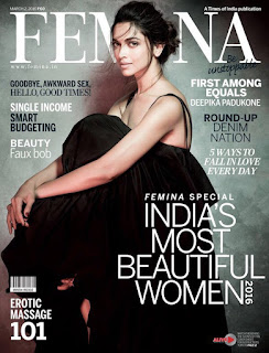 Deepika Padukone graces the Cover of Femina magazine March 2016 issue
