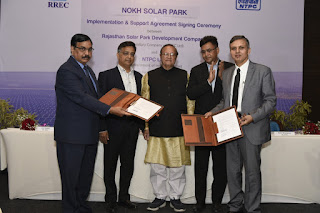 Govt Inks Implementation and Support Agreement with NTPC for Solar Park in Rajasthan
