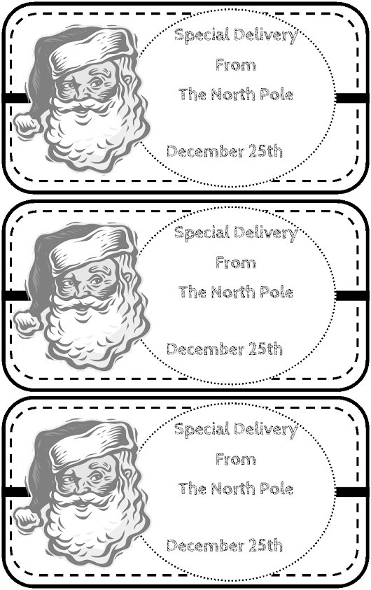Kick Starting Kindergarten: Special Delivery Santa Claus Tags