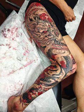 Dragon Tattoos For Thigh