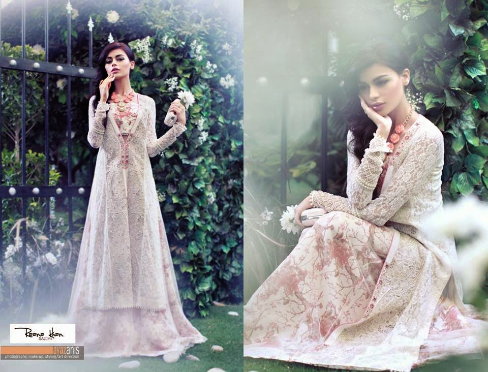 Pakistani Designer Full length embroidered jacket and palazzos by Shehla Chatoor