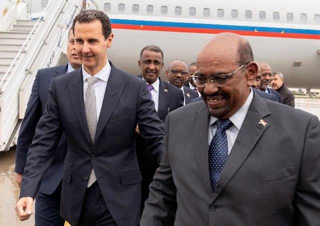 الرئيس الأسد يستقبل نظيره السوداني عمر البشير في دمشق
