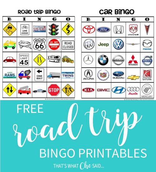 I Spy Road Trip Bingo