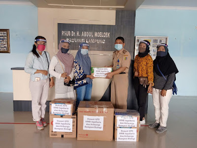 HMB Aqularia Itera dan Mahasiswa Biologi se-Indonesia Salurkan Bantuan APD untuk Tenaga Medis