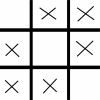 6 X on Tic Tac Toe without 3 in row