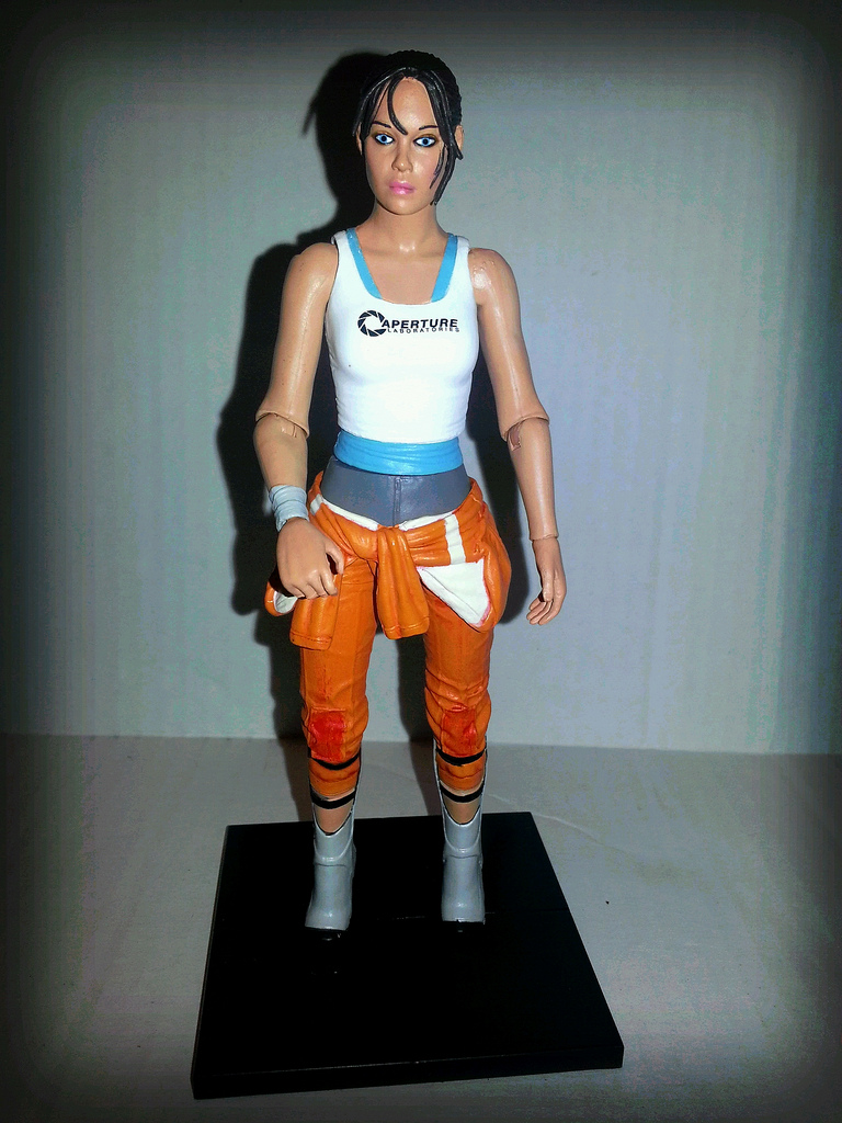 The Epic Review Action Figure Review Portal 2 S Chell From
