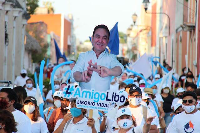 Caminatas a favor de Liborio Vidal
