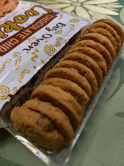 open package of Big Oven Chocolate Chip Cookies
