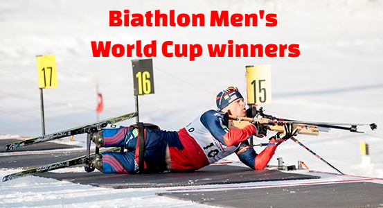 biathlon men's world cup , champions-winners, gold medal, list, by year.
